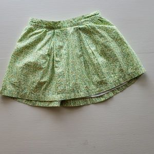 Baby Gap Green Floral Skirt 3T